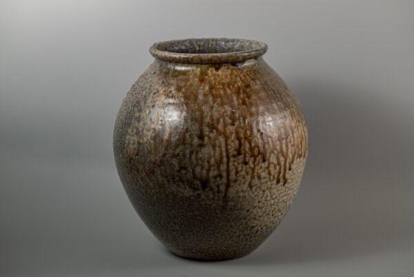 自然釉窯変壺しぜんゆうようへんつぼ 20万